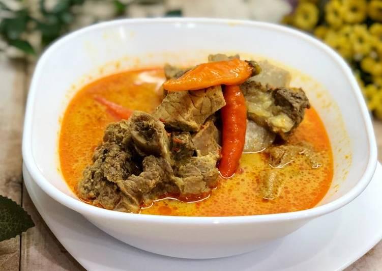 Kari daging sapi ala Lontong Kari Bandung