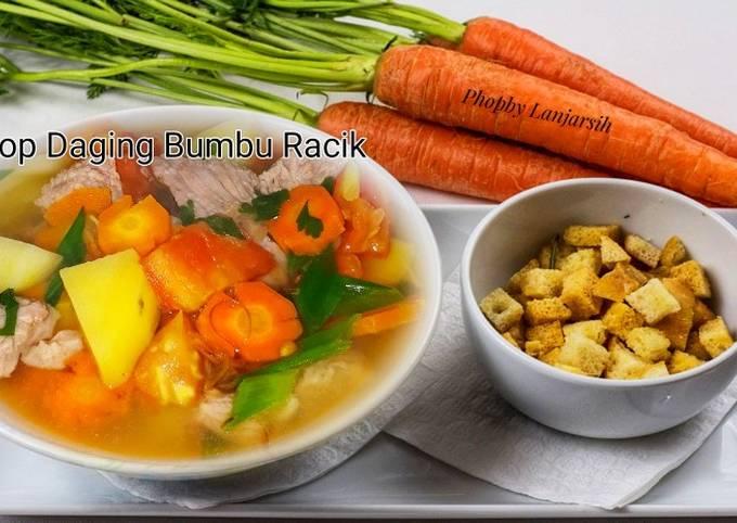 Resep Sop Daging Bumbu Racik Anti Gagal