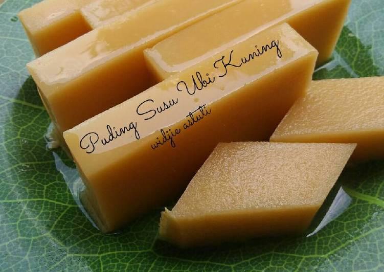 Puding Susu Ubi Kuning