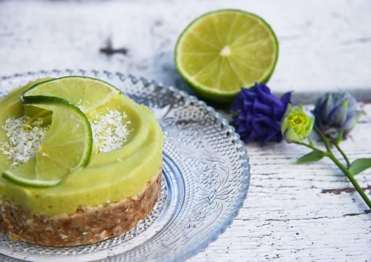 Tartelette crue au citron vert et avocat