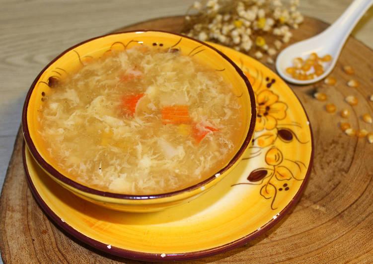 Sopa china de cangrejo y maíz