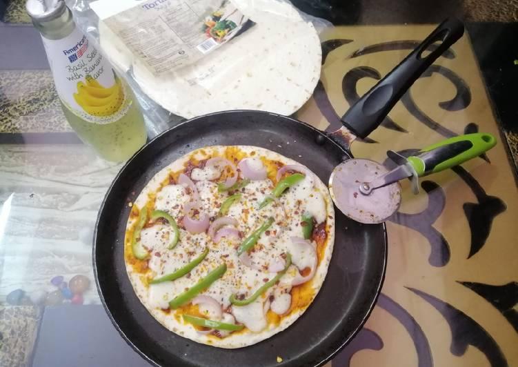 Tortilla Veg Pan Pizza