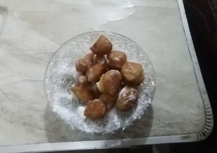 Yummy sugar pancakes