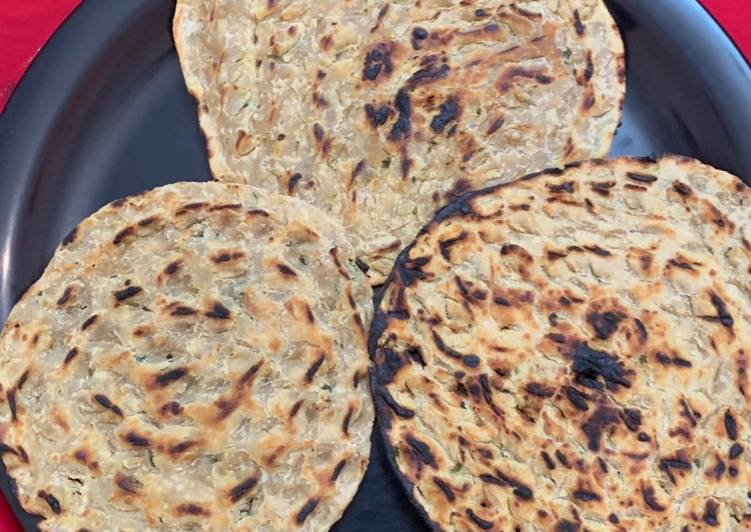 What is Dinner Ideas Any Night Of The Week Khooba roti with a twist of kasuri methi