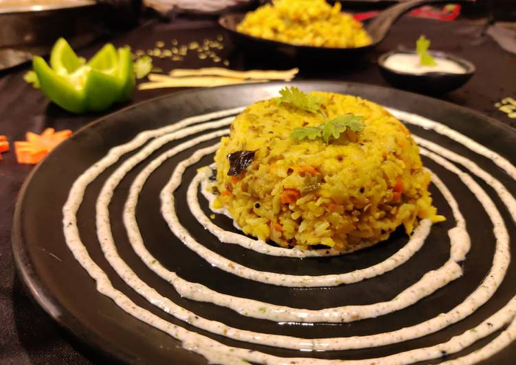 Vegetable khichdi with achari dip Finding Healthy Fast Food