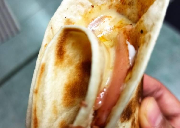 Resepi:  Tortilla Wrap Malas ala Hot n Roll  Termudah
