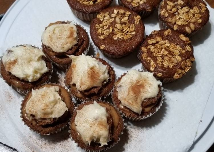 Step-by-Step Guide to Prepare Speedy Spice Cupcakes wt Zucchini, Raisins, & Butterscotch Filling