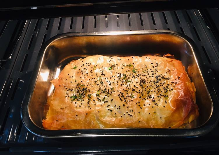 Vegan spanakopita (spinach pie) #bakingcontest