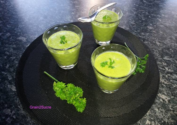 Soupe froide Courgette- Chèvre