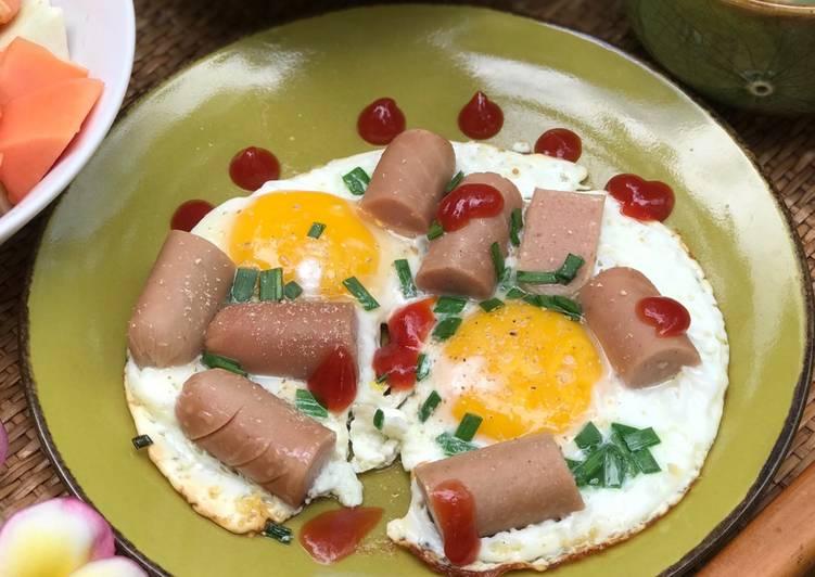 Resep Telur Ceplok Sosis Ayam Bikin Ngiler Resep Bunda