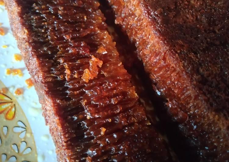resep mengolah Bolu caramel (sarang semut) no kukusan, no oven, no mixer - Sajian Dapur Bunda