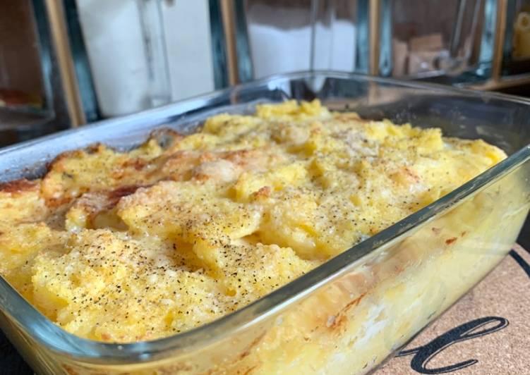 Polenta aux trois fromages