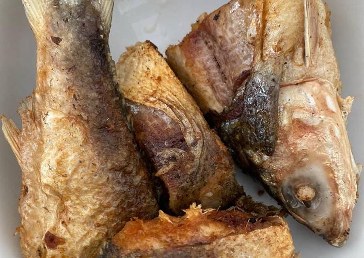 Ikan bandeng goreng rumahan, enak n simple