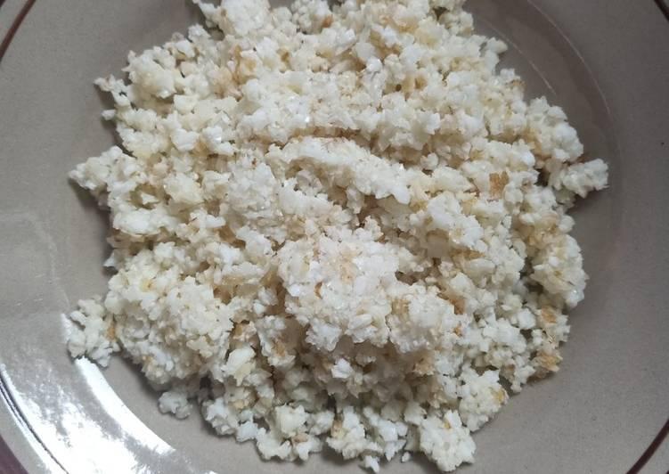 Cara membuat Nasi KW (putih telur) untuk diet keto/debm/lowcarb