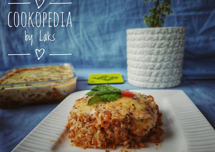 Simple Way to Prepare Speedy Baked Maggi Lasagna