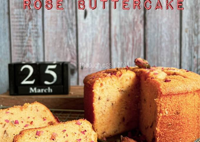 Cream Cheese Rose Butter Cake
