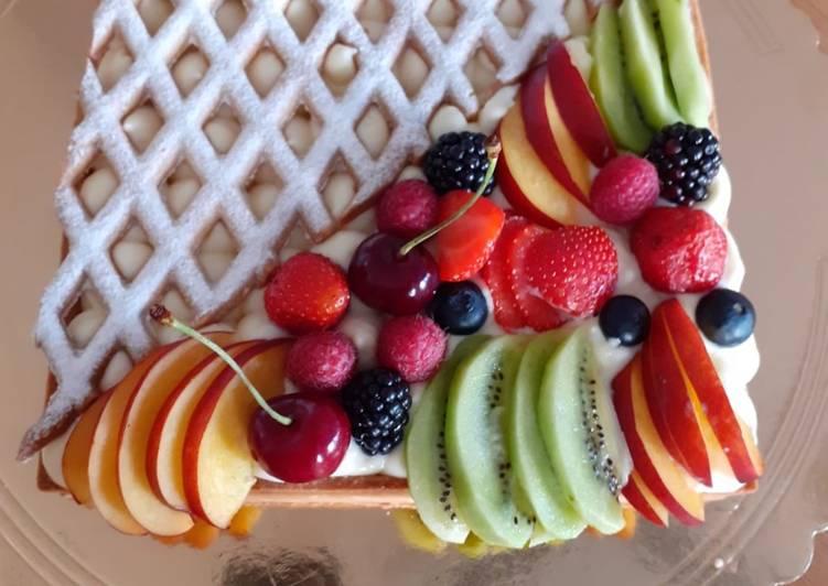 Ricetta Vi presento la mia Crostata Quadrata alla Frutta