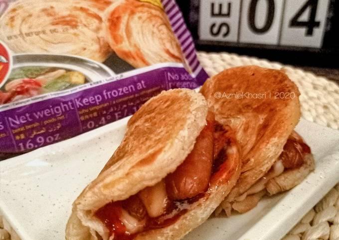 Roti Canai Wrap (Tortilla Wrap Malas ala Hot n Roll)