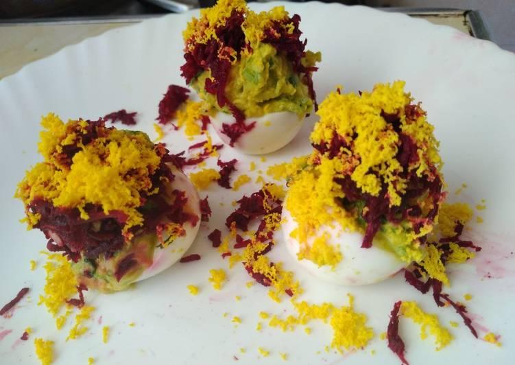 Deviled egg's #teamcontestjoyofcookingladies#Appetizer#festivedi