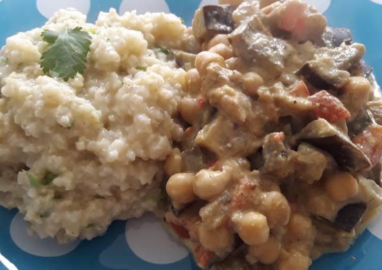 Recette Appétissante Millet à la coriandre et baingan coco