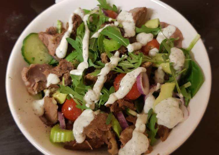 My Roast Lamb Salad. ?