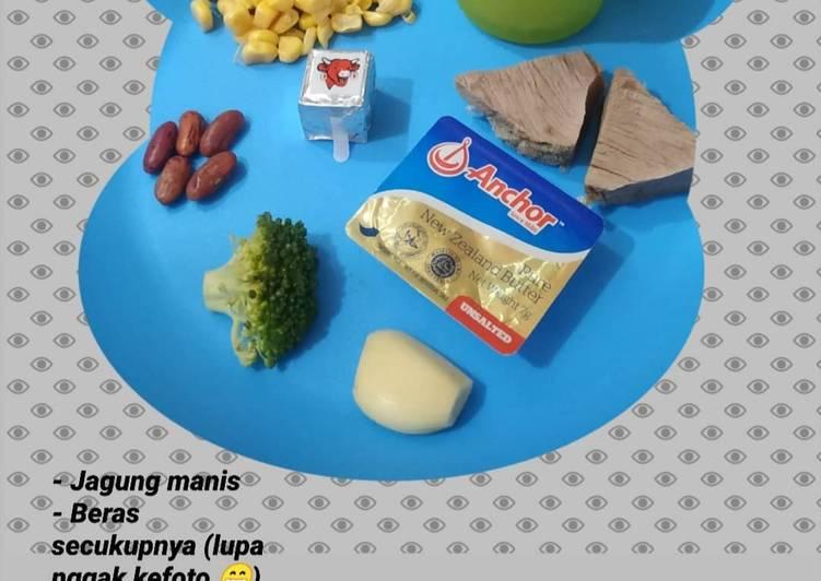 Mpasi 6+ (Bubur daging brokoli)
