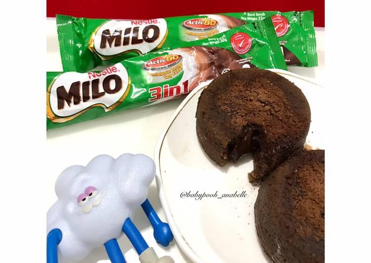 Milo Lava Cake No Mixer (Snack MPASI 1Y+)
