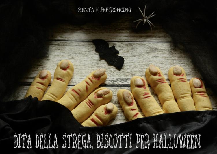 Dita della strega biscotti per Halloween