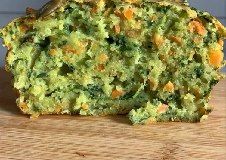 Cake carotte épinard et cumin au Thermomix