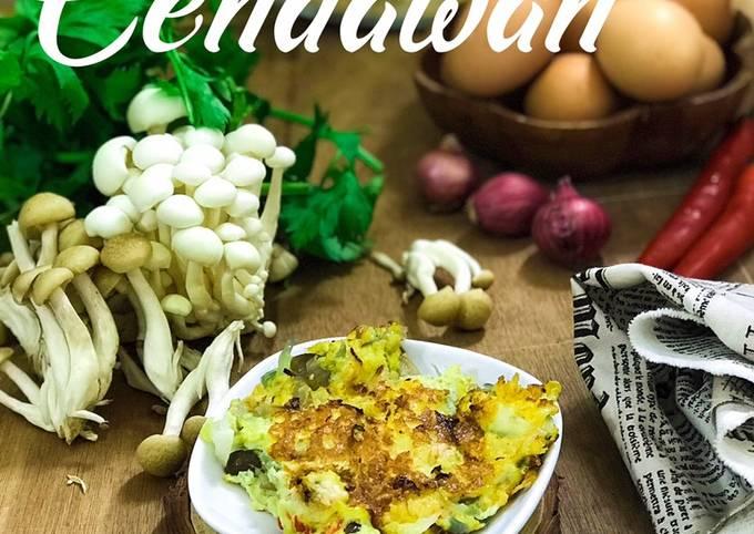 Telur Dadar Cendawan #FayeKusairi #CookPadMalaysia #CookPadMy #PeraduanResepi #Cendawan #MenuBerbuka