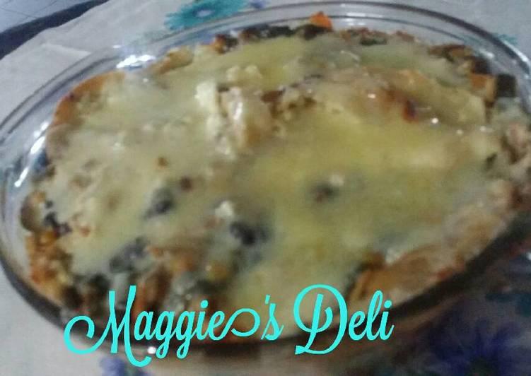 Pastel Azteca De Pollo Y Frijol Receta De Maggie Cookpad