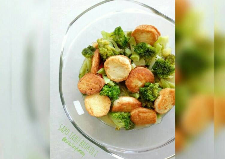 Sapo tahu brokoli