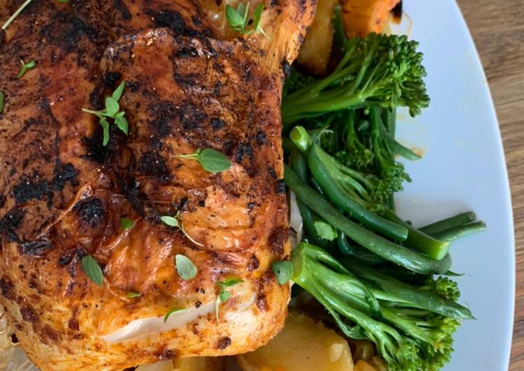 One pot harissa chicken