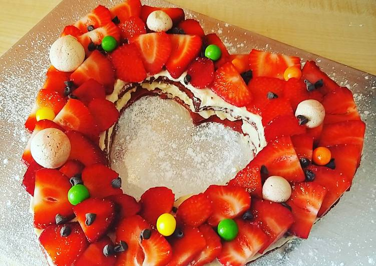 Number cakes vanille - fraise