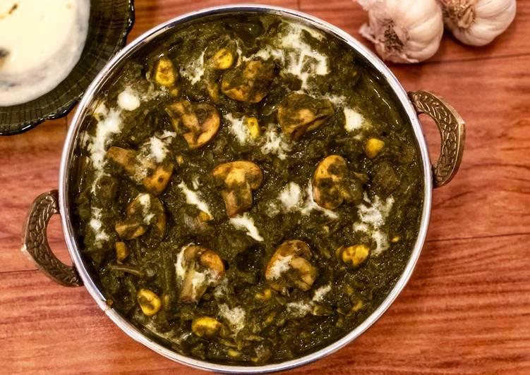 Garlicky Spinach Mushroom