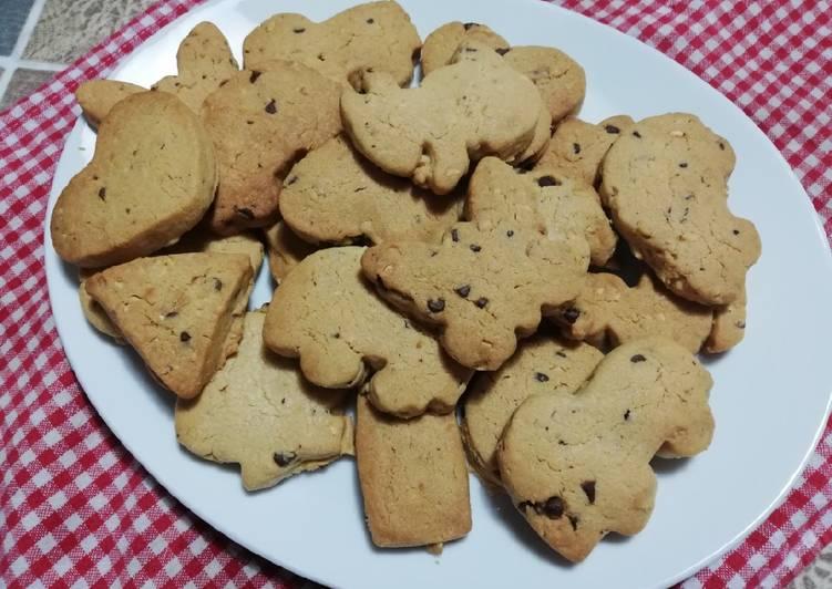 Biscotti noci e gocce di cioccolato