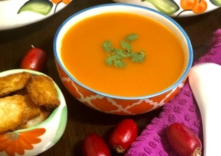 Step-by-Step Guide to Make Top-Rated Carrot soup with gooseberry