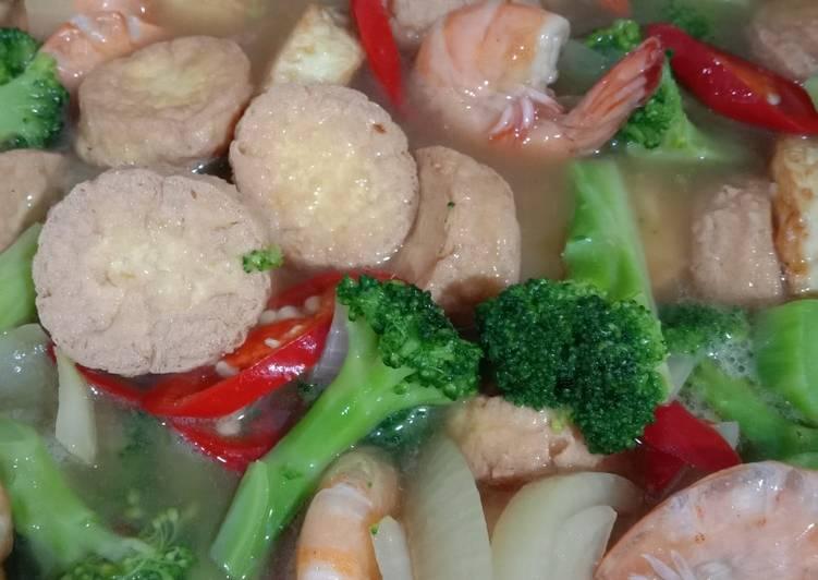 Cah Brokoli Udang Tofu