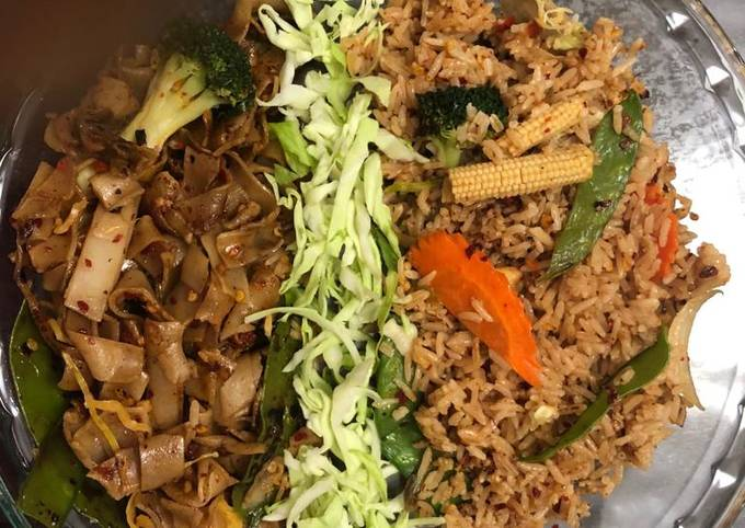 Thai crazy noodles with fried rice