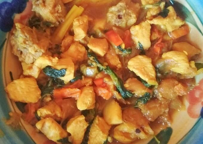 Tongseng diet (no minyak, gula dan santan)
