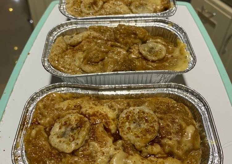 Banana bread pudding kukus