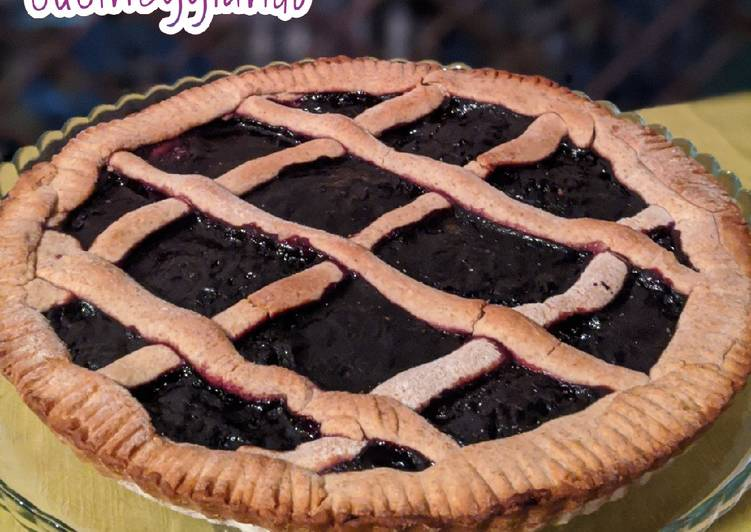 Crostata integrale ai mirtilli
