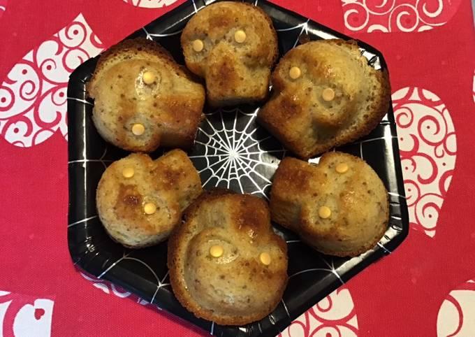 Petits gâteaux skull au citron et graines de pavot
