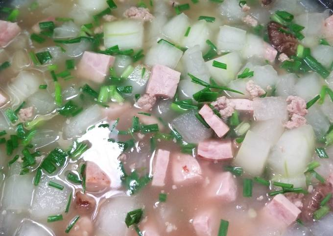 Chinese Winter Melon Soup with Rice 瓜粒湯飯