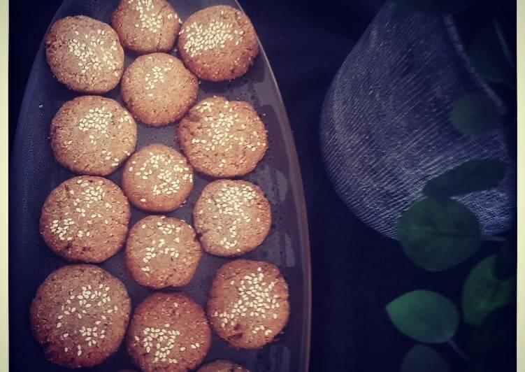 Vegan gluten free tahini cookies