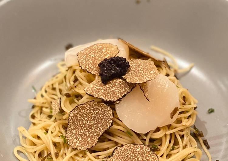 Cold truffle pasta