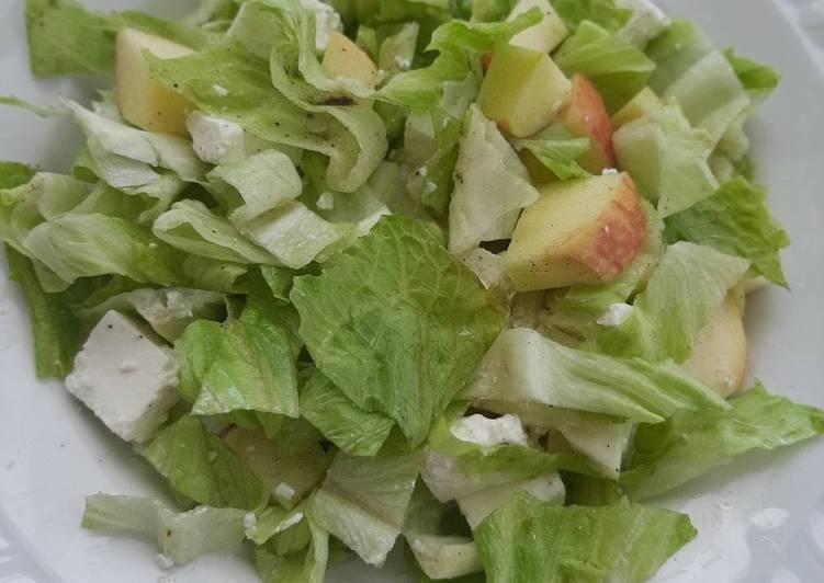 Apple cheese lettuce salad