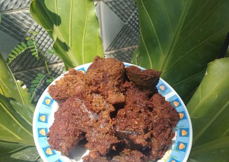 Rendang Daging resep mamak di kampung