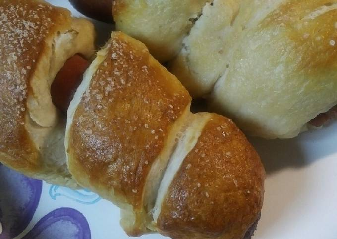 Easiest Way to Prepare Delicious Pretzel Dogs and Sausages
