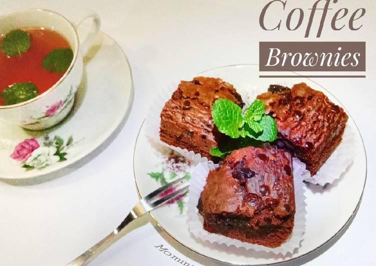 Melted Coffee Brownies